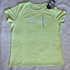NWT Under Armour Yellow Workout T-shirt Top XL